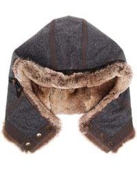 Frauenschuh Loden Rabbit Fur Hood - Lyst