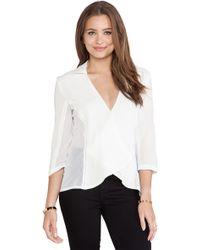 Three Of Something White Aerial Shirt - Lyst