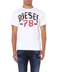 Diesel T-lonad Cotton-jersey T-shirt White - Lyst