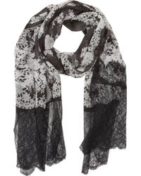 Erdem - Lace-Edged Silk Scarf - Lyst