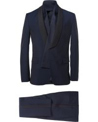 Valentino Navy Slimfit Wool Blend Tuxedo - Lyst