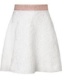 Mary Katrantzou Jq Diona Skirt Alphabet White - Lyst
