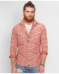 Denim & Supply Ralph Lauren Jacquard-knit Western Shirt - Lyst