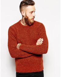 YMC Sweater In Boucle Knit - Lyst