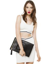 Nila Anthony - All In Oversized Clutch - Black - Lyst