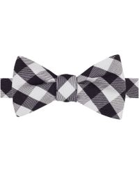 Tommy Hilfiger Wool-blend Buffalo Check Bow Tie - Lyst