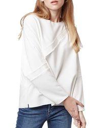 Topshop | Grosgrain Oversize Sweatshirt | Lyst