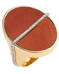 Rachel Zoe - 'alana' Leather Ring - Lyst