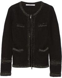 Diane Von Furstenberg Aspen Embellished Wool Cardigan - Lyst