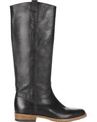 Jigsaw Bloomsbury Leather Knee High Boots - Black
