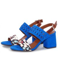 Thakoon Addition - Chloe Pacific Suede Bubble Snake Sandals - Lyst