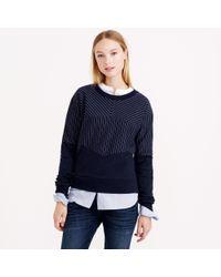 J.Crew Pieced Pinstripe Sweatshirt - Lyst
