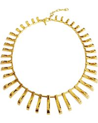 Lele Sadoughi Arcade 14k Gold-plated Necklace - Lyst