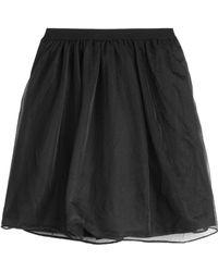RED Valentino Tulle Mini Skirt - Lyst
