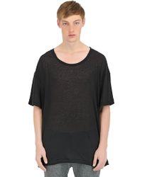 Haider Ackermann Viscose Angora Blend T-Shirt - Lyst