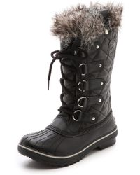 Sorel Tofino Faux Fur Lined Boots - Black - Lyst