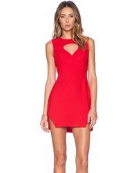BCBGeneration Front Cut Out Dress - Lyst