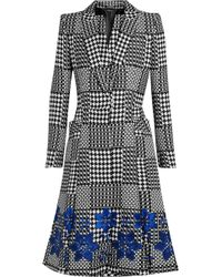 Alexander McQueen Prince Of Wales Check Jacquard Coat gray - Lyst