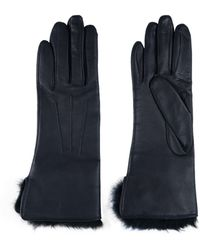 Amanda Wakeley - Leather Gloves With Rabbit Fur - Lyst