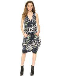 Zero + Maria Cornejo Zero + Maria Cornejo Silk Moss Print Sima Dress - Moss - Lyst