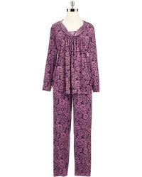 Midnight By Carole Hochman - Plus Two-piece Floral Pajama Set - Lyst