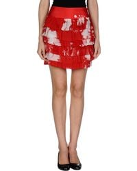 Ermanno Scervino Mini Skirt red - Lyst