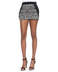 Ohne Titel Zebra-printsolid Resort Shorts - Lyst