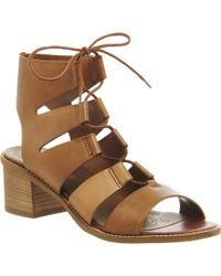 Office Wisteria Ghillie Lace Up Block Heel brown - Lyst
