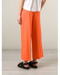 Isola Marras - Wide Leg Cropped Trousers - Lyst