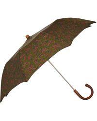 Barneys New York - Paisley Folding Umbrella - Lyst