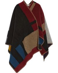 Burberry Prorsum - Wool and Cashmereblend Cape - Lyst