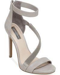 Jessica Simpson Richella Asymmetrical Chain Strap Dress Sandals - Lyst
