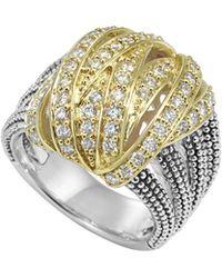 Lagos Embrace Large Diamond Wrap Ring - Lyst