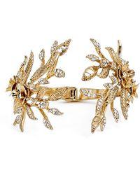 Marchesa | 'flower Leaf' Cuff Bracelet | Lyst
