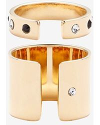 Maria Francesca Pepe - Exclusive Crystal/Solid Band Ring Set - Lyst