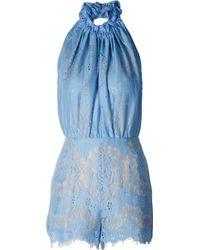 Lover Heather Halter Romper Cornflower blue - Lyst