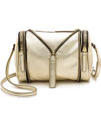 Kara - Metallic Double Date Bag - Gold - Lyst