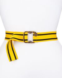 Stella McCartney Striped Cotton Belt yellow - Lyst