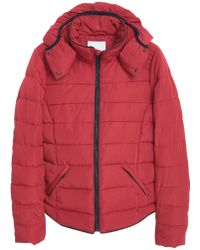 Mango - Quilted Coat With Detachable Hood - Lyst