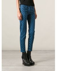 Kenzo Geometric Print Jeans - Lyst
