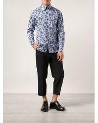 Yohji Yamamoto Camouflage Print Shirt - Lyst