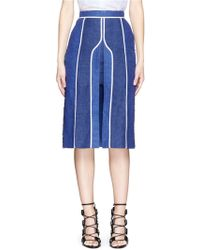 Acne | 'kent' Piped Linen-wool Burlap Skirt | Lyst