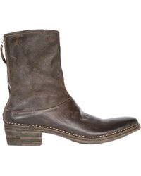 Premiata 45mm Scratched Leather Boots - Lyst
