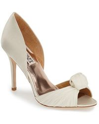 Badgley Mischka 'Musica' Knotted D'Orsay Pump white - Lyst