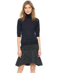 Nina Ricci Short Sleeve Pullover Sweater Eclipse - Lyst