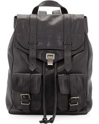 Proenza Schouler Ps1 Large Double-pocket Backpack - Black