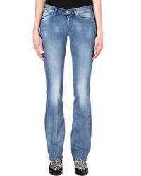 7 For All Mankind Bootcut Low-rise Jeans - Lyst