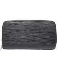 Louis Vuitton Pre-owned Black Epi Leather Zippy Wallet - Lyst
