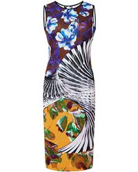 Clover Canyon Floral Printed Tank Dress yellow - Lyst