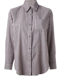 Etoile Isabel Marant Will Striped Shirt - Lyst